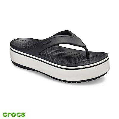 Crocs 卡駱馳 (中性鞋) 厚底卡駱班人字拖 205681-066