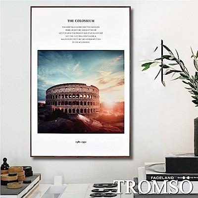 TROMSO 北歐生活版畫有框畫-風華羅馬WA70