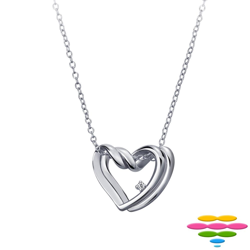 彩糖鑽工坊 愛心鑽石項鍊 雙心項鍊 日本10K