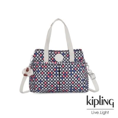 Kipling 華麗閃耀繽紛大容量手提兩用包-KENZIE