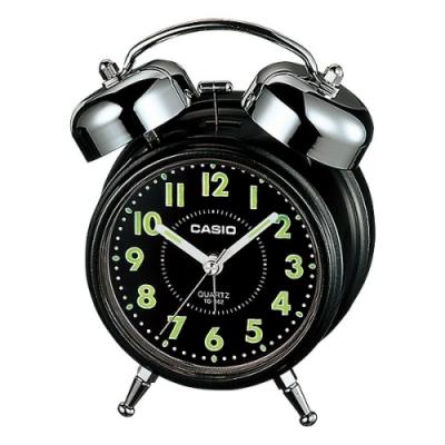 CASIO 雙響音指針鬧鐘(TQ-362-1A)黑面