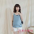 日系小媽咪孕婦裝-孕婦裝 甜美色系微V領針織細肩背心上衣