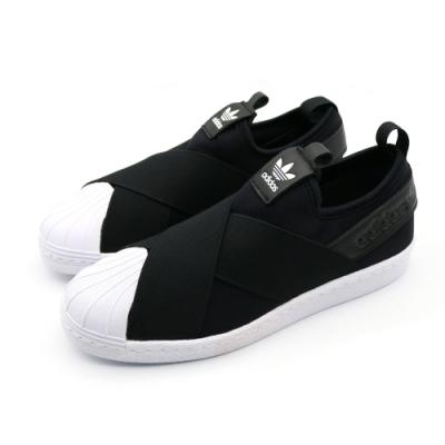 ADIDAS SUPERSTAR SLIP 繃帶 女 休閒鞋 黑 S81337