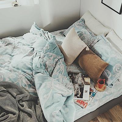絲薇諾 芳菲 雙人四件式-法蘭絨 抗靜電鋪棉床包被套組