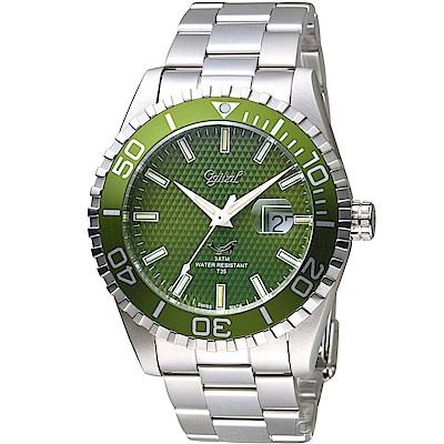 Ogival 愛其華夜鷹氚氣燈管潛水型腕錶(3985TGSG)-綠色