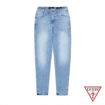 GUESS-女裝-刷色修身牛仔褲-藍