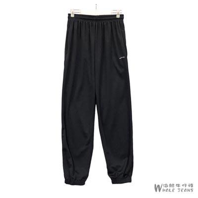 JOHNNY 男款運動款素色束口長褲-2色