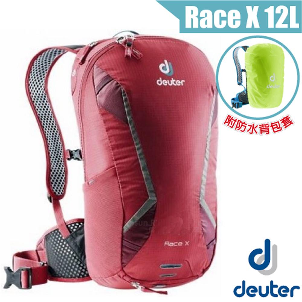德國 Deuter Race X 12L 輕量級透氣自行車背包_紅