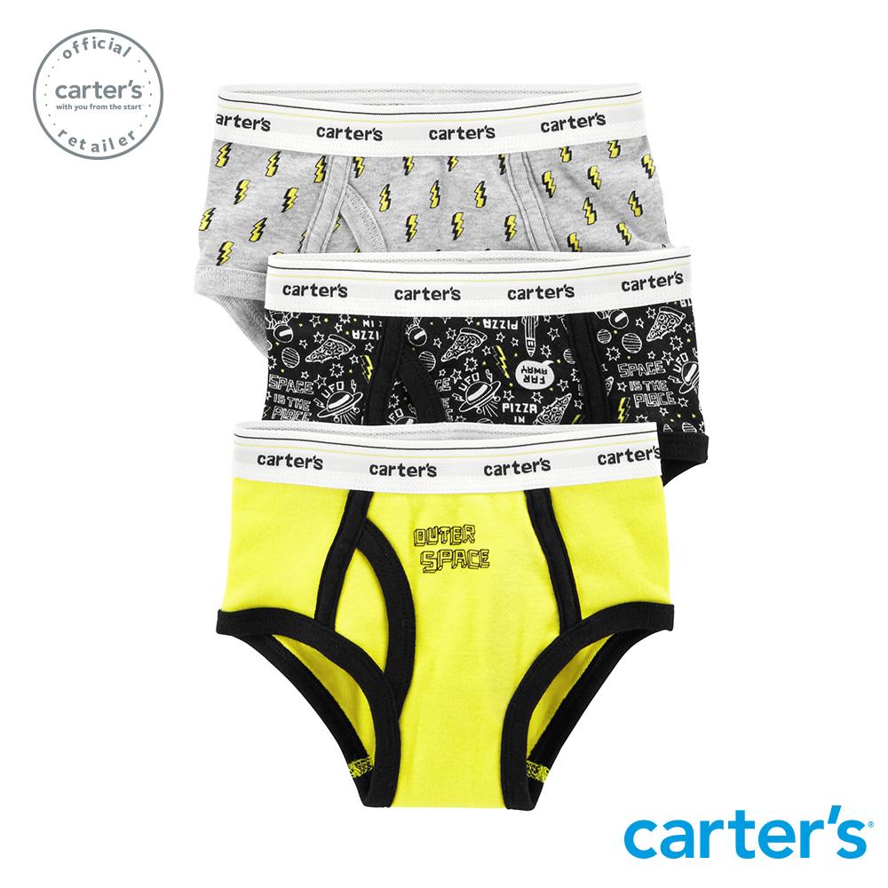Carter's台灣總代理 宇宙太空3件組三角褲
