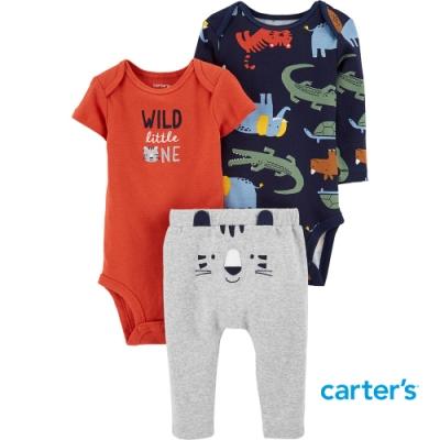 【Carter s】小老虎3件組套裝 (包屁衣/長褲) (6M-18M)(台灣總代理)