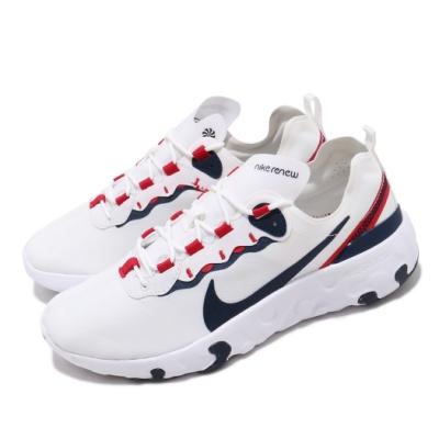 Nike 休閒鞋 Renew Element 55 運動 女鞋 輕量 透氣 舒適 避震 路跑 健身 大童 白 紅 CK4081101