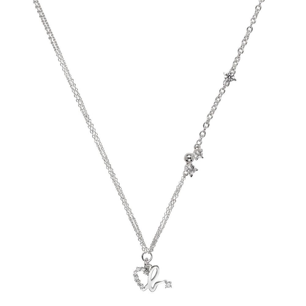 agnes b. heart b logo純銀項鍊