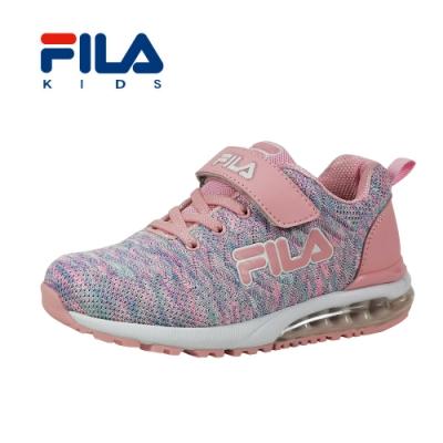FILA 氣墊慢跑鞋 桃紫 大童(6~12歲) 3-J815T-955