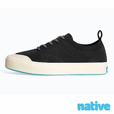 native JEFFERSON 輕織男/女鞋-縞瑪瑙黑x牛奶骨