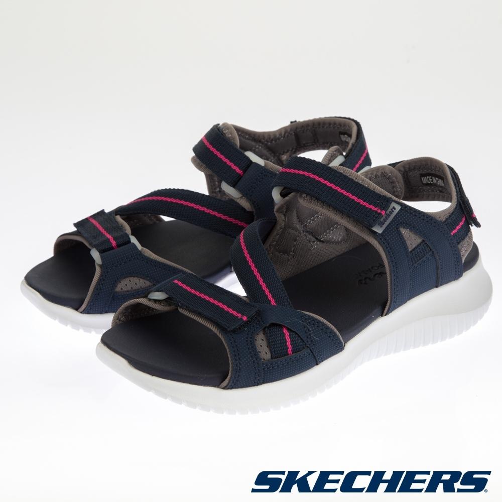 SKECHERS  女休閒系列 涼拖鞋 ULTRA FLEX-32498NVPK