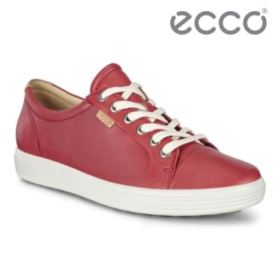 ECCO SOFT 7 W 經典輕巧休閒鞋 女鞋 酒紅