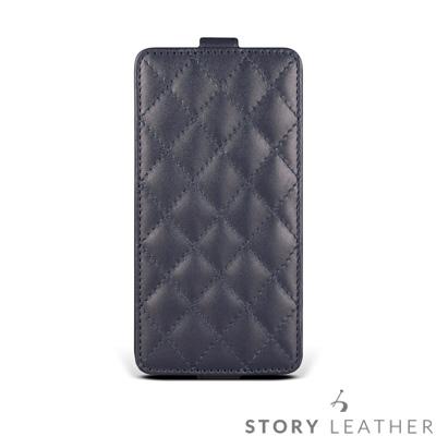 STORYLEATHER iPhone XR 6.1吋 硬殼式下蓋菱格客製化皮套