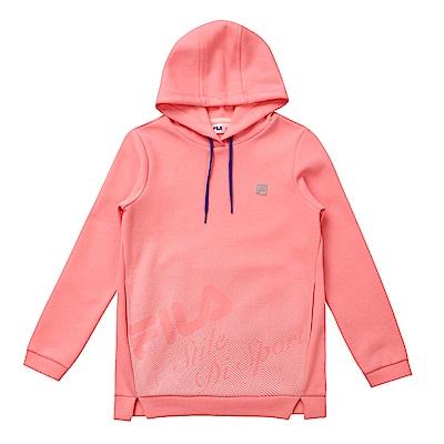 FILA KIDS 童連帽長版上衣-粉紅 5TES-8324-PK