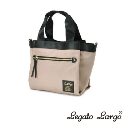 Legato Largo Lieto 高密度尼龍多收納手提斜背兩用包 米灰色