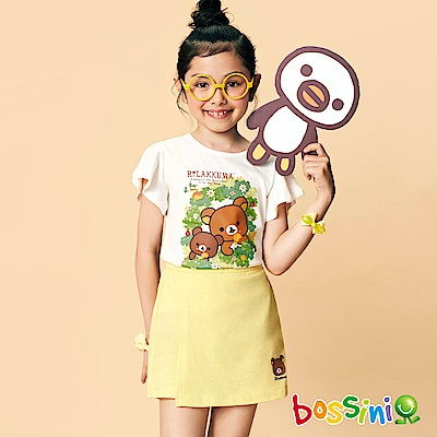 bossini女童-拉拉熊系列印花短袖T恤05灰白