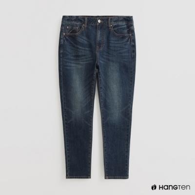 Hang Ten - 男裝 - 高質感刷色牛仔長褲 - 深藍