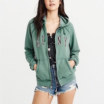 A&F 經典刺繡文字連帽外套(女)-綠色 AF Abercrombie