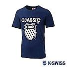 K-SWISS Origine Logo Tee印花短袖T恤-男-藍