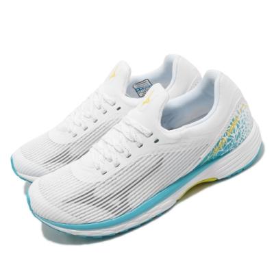 Mizuno 慢跑鞋 Duel Sonic 襪套式 女鞋 美津濃 路跑 緩震 透氣 耐磨 舒適 白 藍 U1GD203542