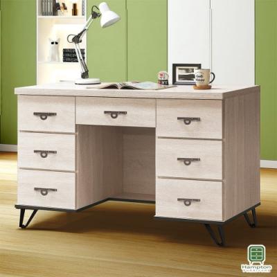 Hampton安娜利鋼刷白4尺書桌-121x58x82cm