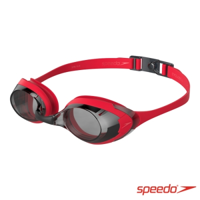 SPEEDO 成人運動泳鏡 Cyclone 3 紅/黑