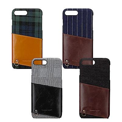 iPhone8/7 Plus 5.5吋 質感皮革口袋造型 背蓋系列 手機殼