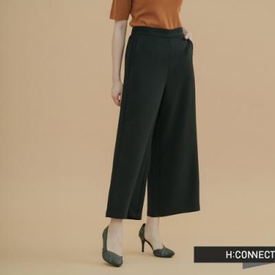 H:CONNECT 韓國品牌 女裝 -知性素面寬褲-黑(快)