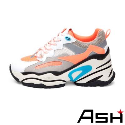 ASH-BLAST時尚潮流休閒運動鞋坡跟增高老爹鞋-橘