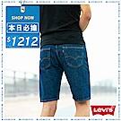 Levis 男款 牛仔短褲 505 中腰標準直筒/ 無彈性