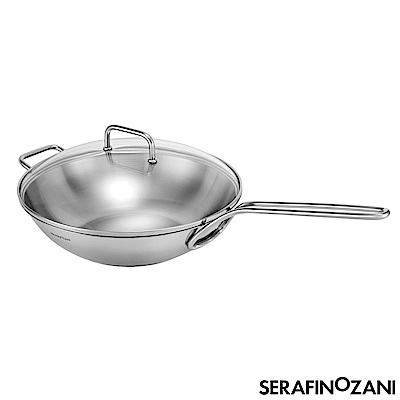SERAFINO ZANI Sydney系列長柄不鏽鋼炒鍋 32cm