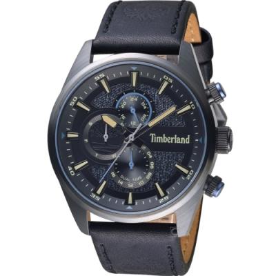 Timberland 天柏嵐 雙時區休閒皮帶錶(TBL.15953JSB/02)46mm
