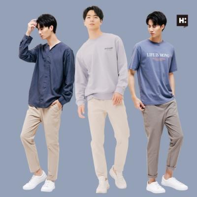 [時時樂限定]H:CONNECT 韓國品牌 男裝 質感休閒長褲-多款