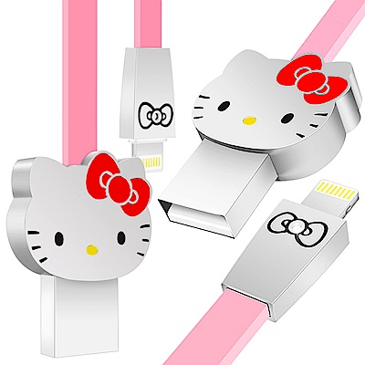 iStyle Lightning 8Pin Hello Kitty 經典大頭傳輸線