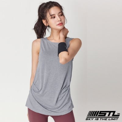 STL yoga Soft Stretch Modal 韓國莫代爾無袖運動上衣 灰