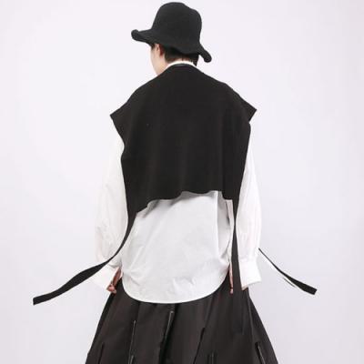 設計所在Style-港風馬甲寬鬆圓領套頭純色百搭馬夾背心