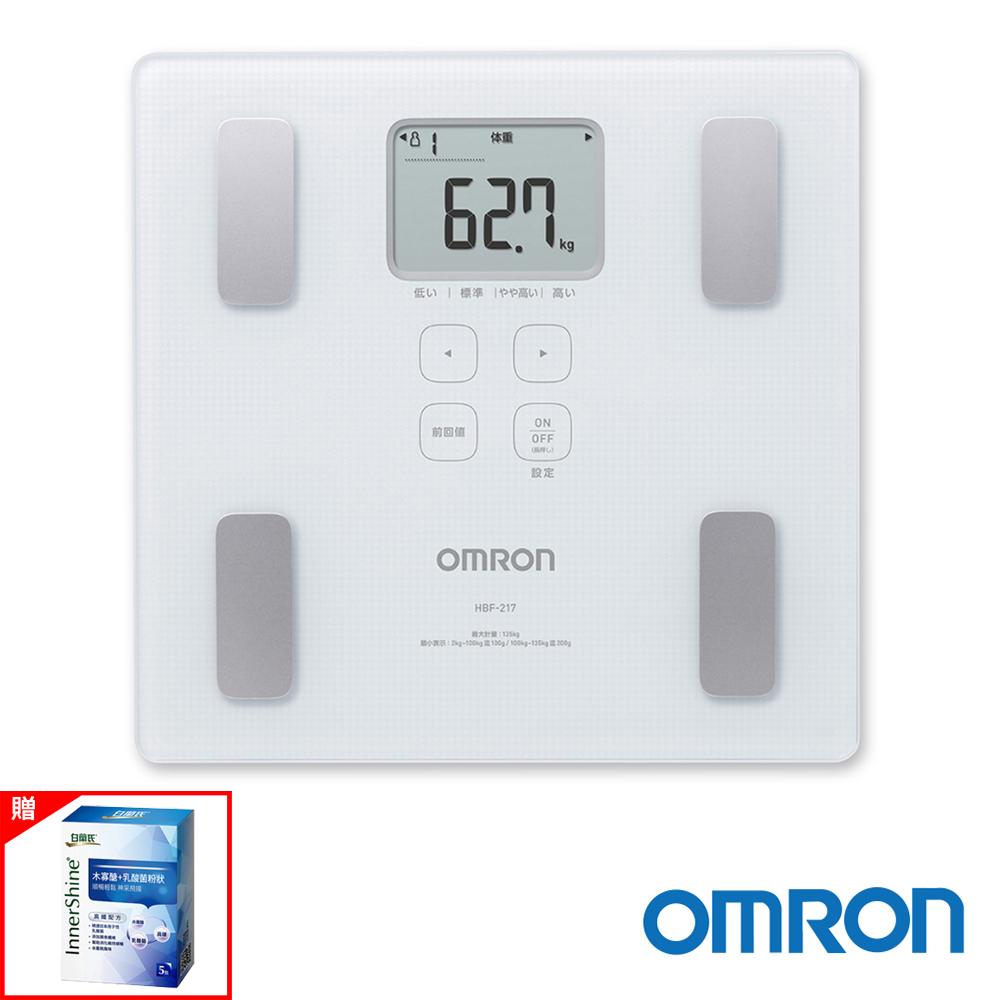 OMRON歐姆龍體重體脂計HBF-217 白色