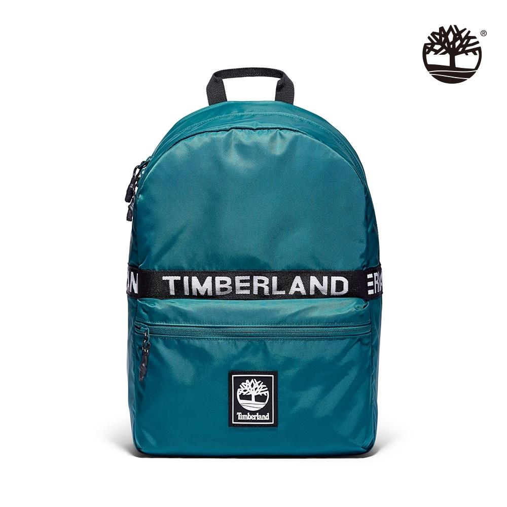 Timberland 中性深大西洋綠品牌LOGO雙肩後背包 A2HAT