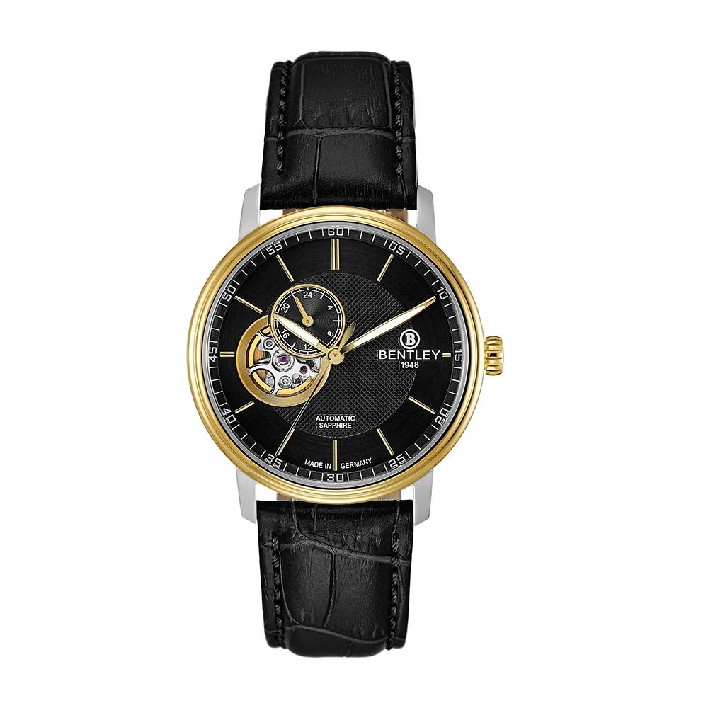 Bentley 賓利 DANDY MOVE系列 潮流機械錶-黑x金銀/40mm