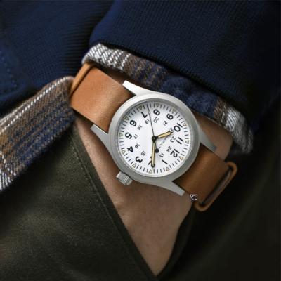 Hamilton 漢米爾頓 khaki卡其野戰系列軍事手上鍊機械錶(H69439511)