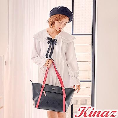 KINAZ 時尚寵兒托特包-蔻丹桃紅-模特兒系列