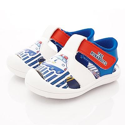 新幹線童鞋 護趾輕量涼鞋款 EI19260白藍(中小童段)