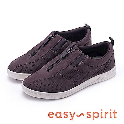 Easy Spirit-FLY 舒適彈性帶運動休閒鞋-咖啡