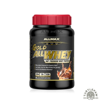 (加碼好禮二選一)加拿大ALLMAX 奧美仕金牌乳清蛋白巧克力口味飲品1瓶 (907公克)