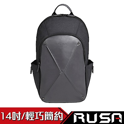 RUSA 漫遊者 14吋電腦後背包(RS-BB-503/優雅灰)