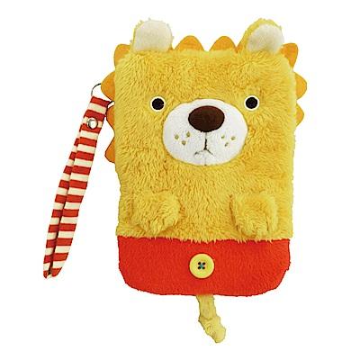 動物樂園毛絨手機提袋 小獅子 UNIQUE